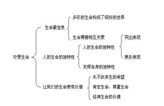 初一思品第二单元知识结构图